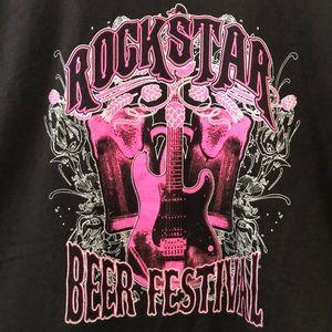 Rockstar Beer Festival Rock n roll guitar tee